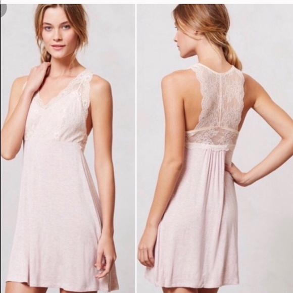 Anthropologie Other - Anthropologie BORDEAUX Gray Cami Dress Chemise SzS